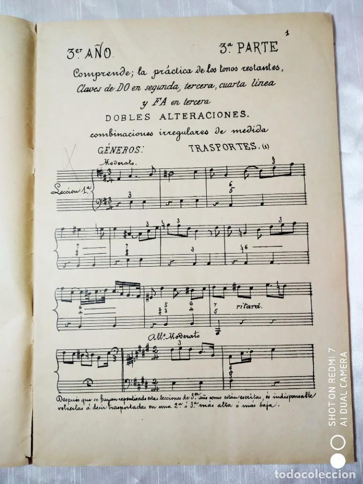 Partituras musicales: SOLFEOS AUTOGRAFIADOS.TERCER AÑO. REVENTOS. UNIÓN MUSICAL ESPAÑOLA - Foto 4 - 205288868
