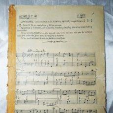 Partituras musicales: LECCIONES DE SOLFEO AUTOGRAFIADOS. 2º AÑO. 2ª PARTE. Lote 205289981