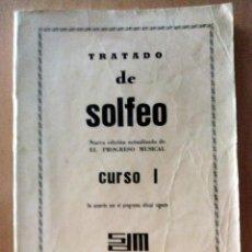 Partituras musicales: TRATADO DE SOLFEO. CURSO I. SOCIEDAD DIDÁCTICO MUSICAL. MADRID. 1972. Lote 205306751