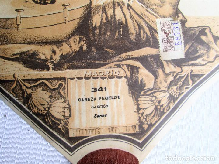 Partituras musicales: PARTITURA Nº 341 CABEZA REBELDE DE SANNA, PARA GRAMOLA MARCA DIANA EN BUEN ESTADO - Foto 3 - 205445591