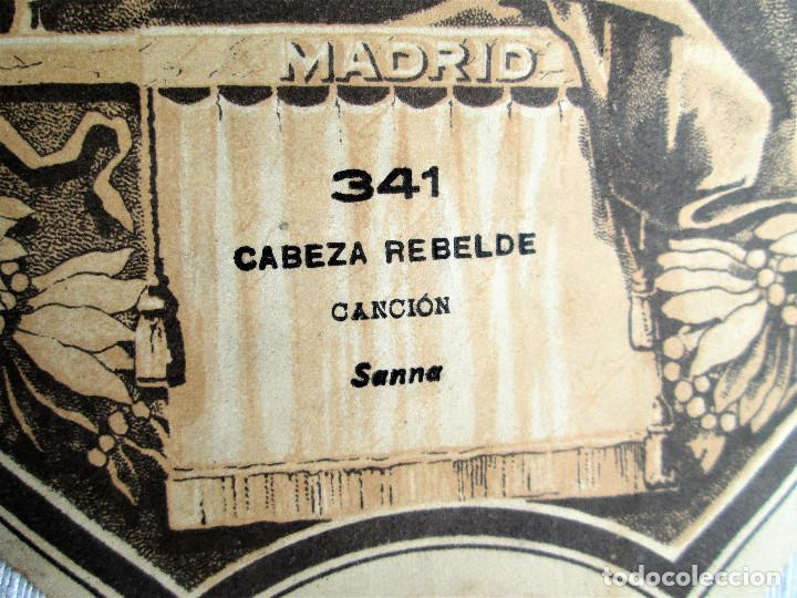 Partituras musicales: PARTITURA Nº 341 CABEZA REBELDE DE SANNA, PARA GRAMOLA MARCA DIANA EN BUEN ESTADO - Foto 4 - 205445591