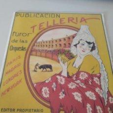 Partituras musicales: PARTITURA PUBLICACIÓN TELLERÍA FUROR DE LAS ORQUESTAS. EDITADO EN 1925 REF. UR EST. Lote 205470420