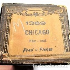 Partituras musicales: PARTITURA Nº 1369 CHICAGO FOX-TROT DE FRED-FISHER, PARA GRAMOLA MARCA DIANA EN BUEN ESTADO. Lote 205469636