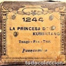 Partituras musicales: PARTITURA Nº 1244 LA PRINCESA DE KUMINTANG TANGO FOX-TROT DE BUENCAMINO, PARA GRAMOLA. Lote 205469758