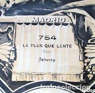 PARTITURA Nº 754 LA PLUS QUE LENTE VALS DE DEBUSSY, PARA GRAMOLA MARCA DIANA EN BUEN ESTADO (Música - Partituras Musicales Antiguas)