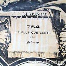 Partituras musicales: PARTITURA Nº 754 LA PLUS QUE LENTE VALS DE DEBUSSY, PARA GRAMOLA MARCA DIANA EN BUEN ESTADO. Lote 205475512