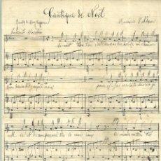 Partituras musicales: C2.- CANTIQUE DE NOËL PAROLY DE MARY CAPPEAU-MUSIQUE D`ADAM -PARTITURA MANUSCRITA. Lote 205880307