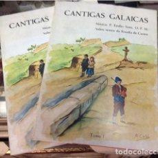 Partituras musicales: CANTIGAS GALAICAS. 1969. MUSICA DE EMILIO SOTO SOBRE TEXTOS DE ROSALIA DE CASTRO.TOMO I Y II .RARO.. Lote 206140955
