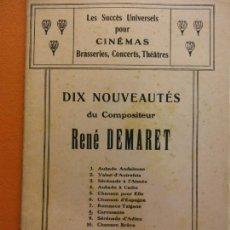 Partituras musicales: PARTITURA. DIX NOUVEAUTÉS DU COMPOSITEUR. RENÉ DEMARET. J. BUYST, EDITEUR. Lote 206147331