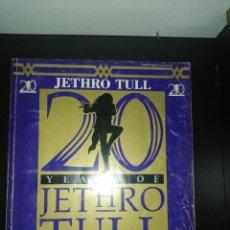 Partituras musicales: PARTITURAS JETHRO TULL 20 YEARS , INCLUYE EL POSTER INTERIOR VER FOTOS, 1988 CHERRY LANE. Lote 206292332