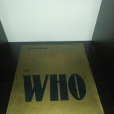 Partituras musicales: PARTITURAS : THE WHO , THE WHO ANTHOLOGY , 44 CANCIONES 208 PAGINÁS , 1981 HAL LEONARD. Lote 206293460