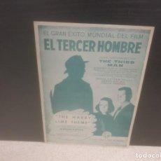 Partituras musicales: ANTIGUA PARTITURA DE MUSICA....EL TERCER HOMBRE..THE THIRD MAN.....1949.... Lote 206362092