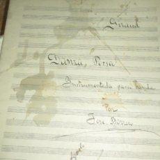 Partituras musicales: GIRAUD RMANUSCRITA PARTITURA DANZA PERSA VALENCIA 1916 INSTRUMENTADA BANDA POR JOSE BORRERO FIRMADA. Lote 206469851