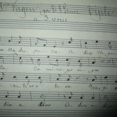 Partituras musicales: MANUSCRITA PARTITURA INEDITA VALENCIA SALVADOR GINER DESPEDIDA A LA VIRGEN TIPLE 2º. Lote 206471366