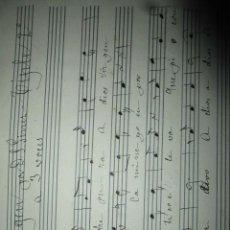 Partituras musicales: RMANUSCRITA PARTITURA VALENCIA SALVADOR GINER DESPEDIDA A LA VIRGEN TIPLE 2º. Lote 206471366