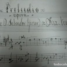 Partituras musicales: PARTITURA MANUSCRTAS SAGUNTO SALVADOR GINER SAGUNTO D.NERI ARCHIVO DE VALENCIA. Lote 23028393