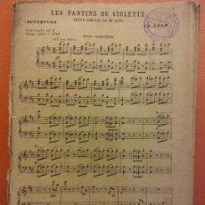 Partiture musicali: LES PANTINIS DE VIOLETTE. OPERA COMIQUE EN UN ACTE. PIANO CONDUCTOR. JOUBERT EDITOR. Lote 206993033