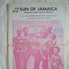 Partituras musicales: PARTITURA SUN OF JAMAICA, NUESTRO AMOR SERÁ UN HIMNO, WOLF EKKEHARDT PIANO. Lote 207130837