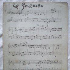 Partituras musicales: PARTITURA MANUSCRITA LA SALEROSA CUATRO PÁGINAS. Lote 207133295