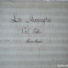 Partituras musicales: PARTTITURA MANUSCRITA, LOS MONIGOTES, VALS POLKA PIANO DOS PÁGINAS. Lote 207133418