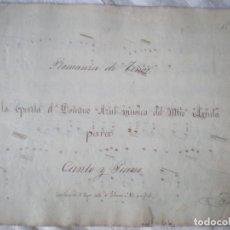 Partituras musicales: PARTITURA MANUSCRITA, ROMANZA DE TENOR, OPERETA EL DOMINÓ AZUL, M ARRIETA, CANTO Y PIANO 6 PAGINAS. Lote 207133692