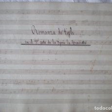Partituras musicales: PARTITURA MANUSCRITA, ROMANZA DE TIPLE, 3 ACTO TRAVIATA 7 PÁGINAS. Lote 207133775