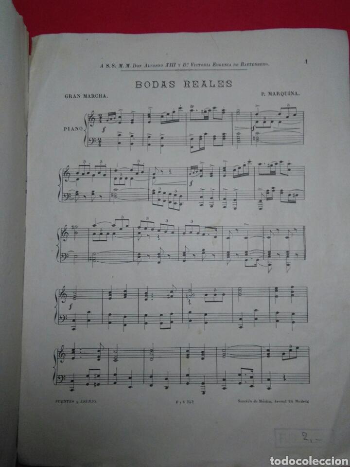 Partituras musicales: Antigua partitura bodas reales D.Alfonfo XIII y D.Victoria ugenia de battenberg - Foto 2 - 208043132