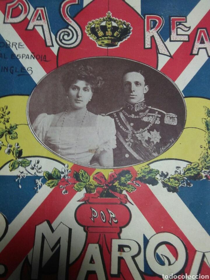 Partituras musicales: Antigua partitura bodas reales D.Alfonfo XIII y D.Victoria ugenia de battenberg - Foto 6 - 208043132