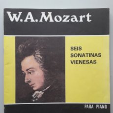 Partiture musicali: W. A. MOZART SEIS SONATAS VIENESAS PARA PIANO REAL MUSICAL MADRID PARTITURA LIBRO PARA PIANO. Lote 208182443
