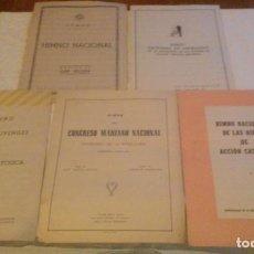 Partituras musicales: LOTE 5 PARTITURAS-HIMNOS (4 DE ACCIÓN CATOLICA Y 1 DEL CONGRESO MARIANO NACIONAL). Lote 208389220