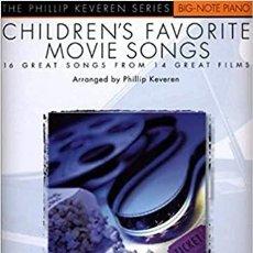 Partituras musicales: CANCIONES INFANTILES FAVORITAS DE PELÍCULAS:.PARTITURAS. NIVEL: 3º PIANO. Lote 208844042