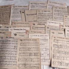 Partitions Musicales: LOTE DE 30 PARTITURAS. MÚSICA DEL SUR. BARCELONA. 1949-1950.. Lote 208869058