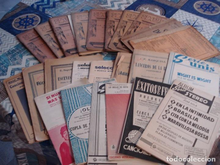 LOTE DE 23 PARTITURAS (Música - Partituras Musicales Antiguas)
