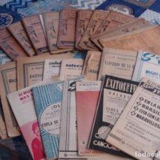 Partituras musicales: LOTE DE 23 PARTITURAS. Lote 210150308