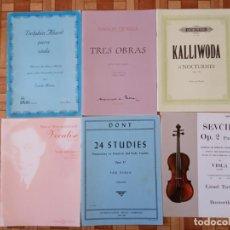 Partituras musicales: LOTE PARTITURAS PARA VIOLA. Lote 210437156