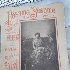 Partituras musicales: BÉSAME, BÉSAME, PARTITURA PARA PIANO DE 1912, CASA DOTESIO. Lote 211471657