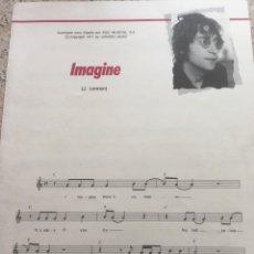 Partituras musicales: PARTITURA IMAGINE J. LENNON Y LETRA EN ESPAÑOL. Lote 211814727