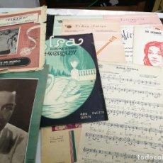 Partituras musicales: LOTE 10 PARTITURAS ANTIGUAS, LOUIS ARMSTRONG, ANTONIO JOBIN, BOSSA NOVA, Y OTROS. Lote 212212863
