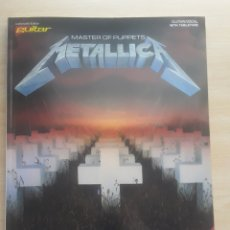 Partiture musicali: PARTITURAS METALLICA MASTER OF PUPPETS. Lote 213026765