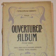 Partituras musicales: PIANO SOLO - OVERTUREN ALBUM VOL. 1 - ROSSINI, BELLINI, DONIZETTI, AUBER... - UNIVERSAL EDITION. Lote 213129405