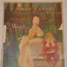Partituras musicales: WORSLEY - VALS LENTO - L´AMOUR S EVEILLE. Lote 213130122