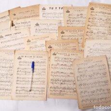 Partituras musicales: LOTE DE 16 PARTITURAS. EDICIONES HISPANIA. MADRID. 1940-1950. ORQUESTA RADIO JAZZ.. Lote 213278905