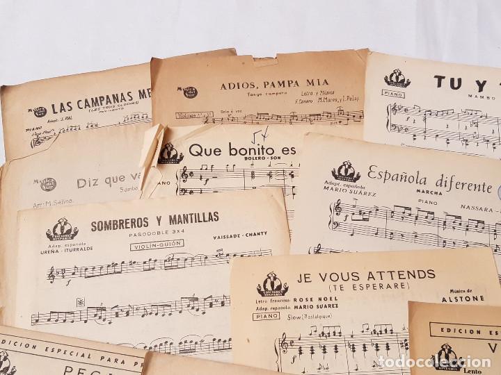 Partituras musicales: Lote de 16 partituras. Ediciones Hispania. Madrid. 1940-1950. Orquesta Radio Jazz. - Foto 2 - 213278905