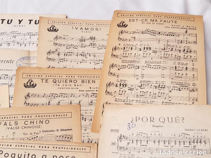 Partituras musicales: Lote de 16 partituras. Ediciones Hispania. Madrid. 1940-1950. Orquesta Radio Jazz. - Foto 3 - 213278905