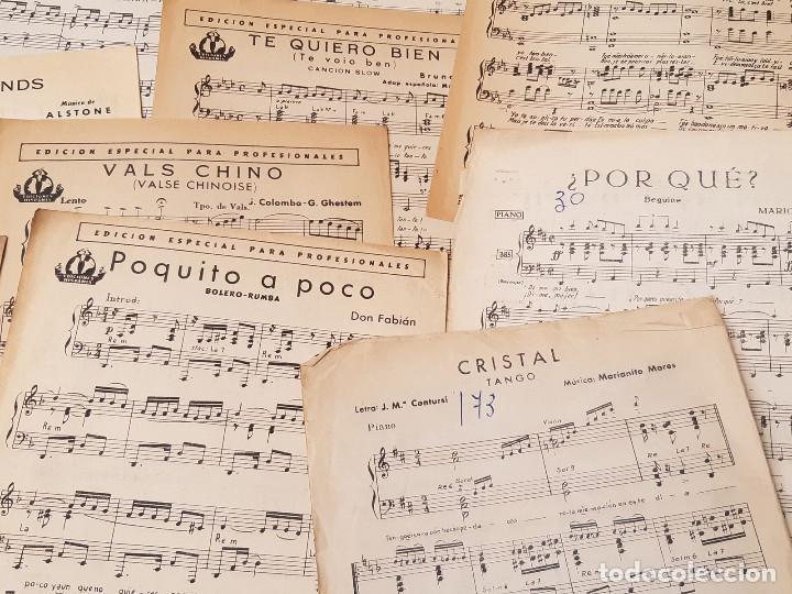 Partituras musicales: Lote de 16 partituras. Ediciones Hispania. Madrid. 1940-1950. Orquesta Radio Jazz. - Foto 5 - 213278905