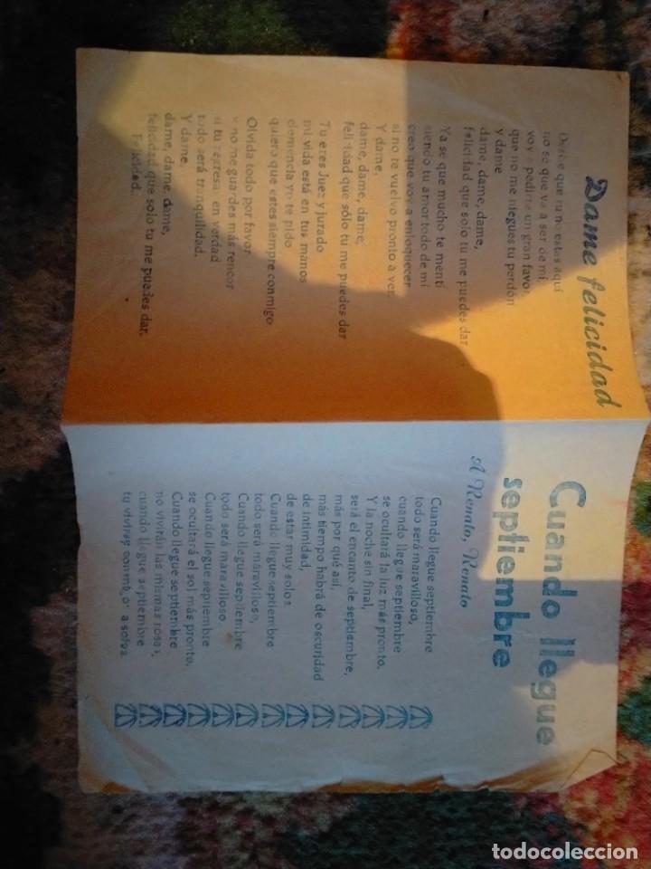 Partituras musicales: LETRA LETRAS DE LA CANCION CANCIONES LLÉVAME AL FÚTBOL ESTO ES EL MADISON DAME FELICIDAD CUANDO LLEG - Foto 2 - 213435771