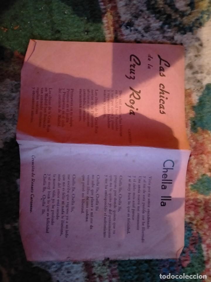 Partituras musicales: LETRA LETRAS DE LA CANCION CANCIONES MI COPLA ES UNA MUJER TORERO LA CHICA DE LA CRUZ ROJA CHELLA LL - Foto 2 - 213435882