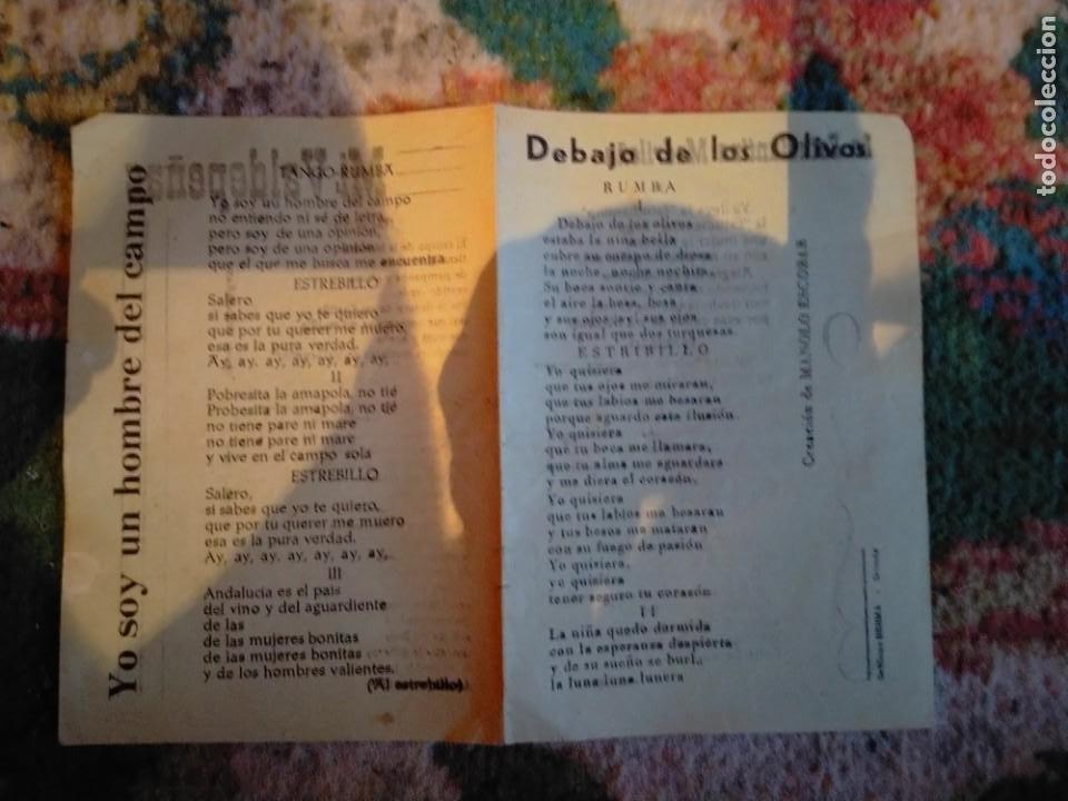 LETRA LETRAS DE LA CANCION CANCIONES LA ESTUDIANTINA MADRILEÑA MI VALDEPEÑAS DEBAJO DÉ LOS OLIVOS (Música - Partituras Musicales Antiguas)