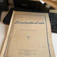 Partituras musicales: LA INVITACIÓN AL VALS. Lote 213881113