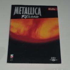 Partituras musicales: METALLICA / TABLARURA BAJO+VOZ / IMPORTADO USA / RELOAD. Lote 214471355
